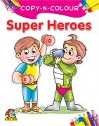 PACK OF 15 COPY N COLOUR SUPER HEROES